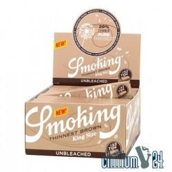 Box 24x Smoking Thinnest Brown King Size Slim + Tips