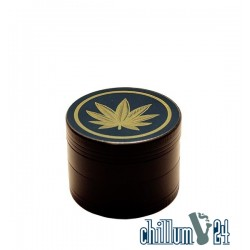 Alu-Grinder 4-teilig 50mm Black Gold Leaf