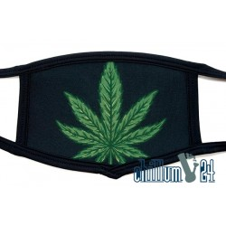 Mundschutz Behelfsmaske One Size Black Leaf Green
