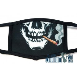 Mundschutz Behelfsmaske One Size Black Skull Cigar