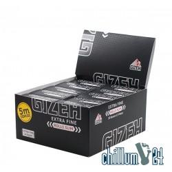 Box 10x Gizeh Black Slim 5m Rolls Extra Fine