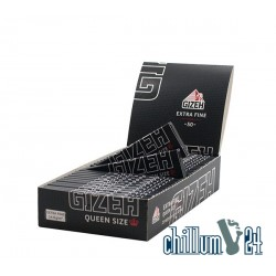Box 25x Gizeh Black Queen Size Extra Fine 50 Blatt