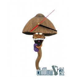 CannaBuds Mushroom Wanduhr 29cm