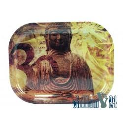 Metall Rolling Tray Buddha 18x14cm