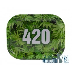 Metall Rolling Tray 420 Green 18x14cm