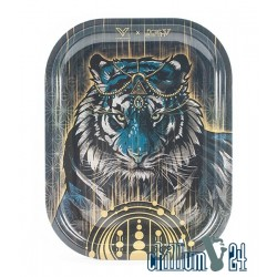 Metall Rolling Tray First Earth Tiger 18x14cm