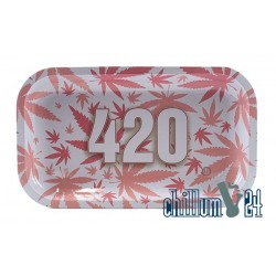 Metall Rolling Tray 420 Pink 27x16cm