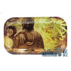 Metall Rolling Tray Buddha 27x16cm