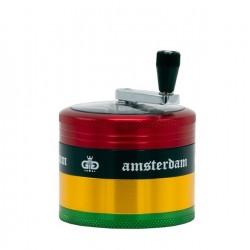Grace Glass Amsterdam Kurbel-Grinder 4-teilig 62mm Rasta