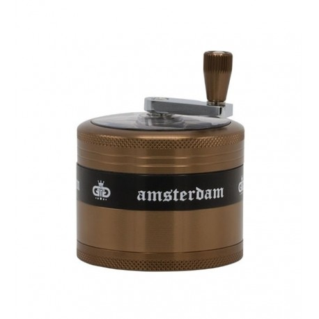 Grace Glass Amsterdam Kurbel-Grinder 4-teilig 62mm Coffee