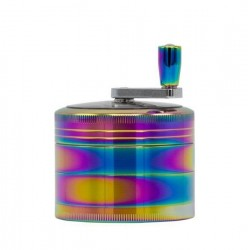 Grace Glass Amsterdam Kurbel-Grinder 4-teilig 62mm Rainbow