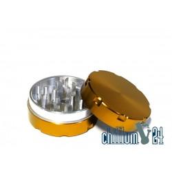 Alu-Grinder 50mm 2-Teilig Gold