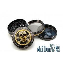 Champ High Metallgrinder Gold Skull 4-teilig 50mm