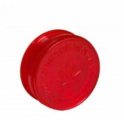 Acryl-Grinder mit Vorratsfach 60mm Red