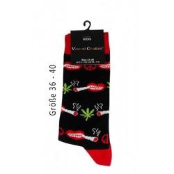 Vincent Creation Cotton Socks Red Gr. 36-40