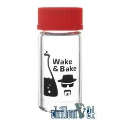 Heisenberg Glasbehälter mit Schraubverschluss Wake & Bake