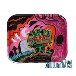 Metall Rolling Tray RAW Zombie 34x28x2,5 cm
