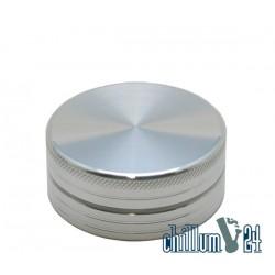 Alu-Grinder Ø 50mm 2-Teilig Silber