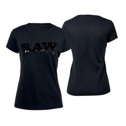RAW Shirt Black Logo Round Neck Girl