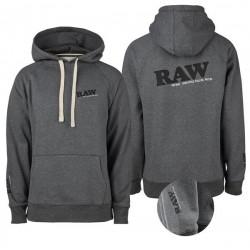 RAW Hoodie Grey Logo