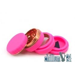 Silikon Aluminium Grinder 4-teilig 62mm Pink
