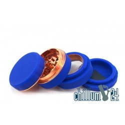 Silikon Aluminium Grinder 4-teilig 62mm Blue