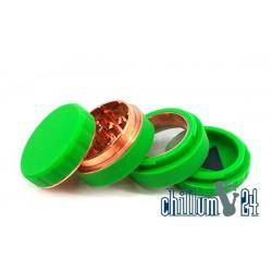 Silikon Aluminium Grinder 4-teilig 62mm Green