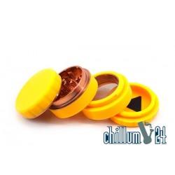 Silikon Aluminium Grinder 4-teilig 62mm Yellow