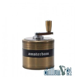 Grace Glass Amsterdam Kurbel-Grinder 4-tlg 52mm Gold