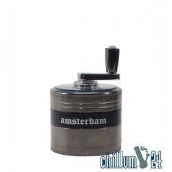 Grace Glass Amsterdam Kurbel-Grinder 4-tlg 52mm Chrom