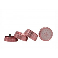 Grace Glass Amsterdam Grinder 4-Part 40mm Pink