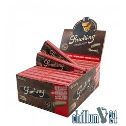 Box 24x Smoking Brown unbleached King Size Paper u. Tips