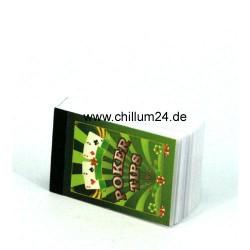 Poker Filtertips 3 x 5cm 52 Tips bedruckt