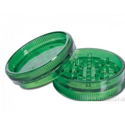 Kunststoff Grinder Grün, 3-teilig Vorratsfach und Magnet Ø ca. 60mm