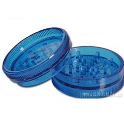 Kunststoff Grinder Blau, 3-teilig Vorratsfach und Magnet Ø ca. 60mm