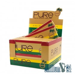 Box 40x PURE Transparent Rolling Papers 40 Blatt