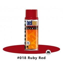 MOLOTOW Premium 400 ml #018 Ruby Red / Rubinrot
