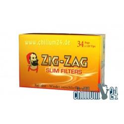 Box ZIG ZAG Slim Eindrehfilter 34 Beutel mit je 120 Stk. 6mm