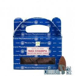 Nag Champa Satya Sai Baba Backflow Räucherkegel 24 Stk.