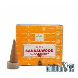 Satya Sandalwood Räucherkegel 12 Stk.