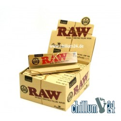 Box 24x Raw Connoisseur KS Slim Papier + Filtertips
