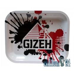 Metall Rolling Tray GIZEH 36x29,5x3 cm White