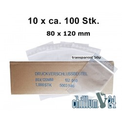Baggies Blanko 80x120 mm