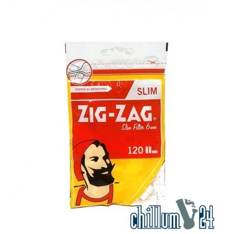 ZIG ZAG Slim Eindrehfilter Slim 6 mm 120 Stk.