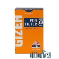 Gizeh Feinfilter 8 mm mit Aktivkohle 100 Stk.