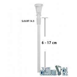 Glas-Chillum 14.5er Schliff mit Trichterkopf 6 - 17 cm