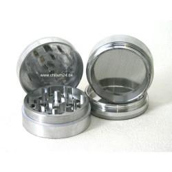 Aluminium Grinder 4-teilig Silver 40mm