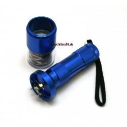 Elektro Grinder mit Sieb Blau