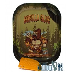 Metall Rolling Tray Gorilla Glue Small Size 18 x 14,5 x 2 cm