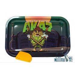 Metall Rolling Tray AK47 Medium Size 27,5 x 17,5 x 2 cm